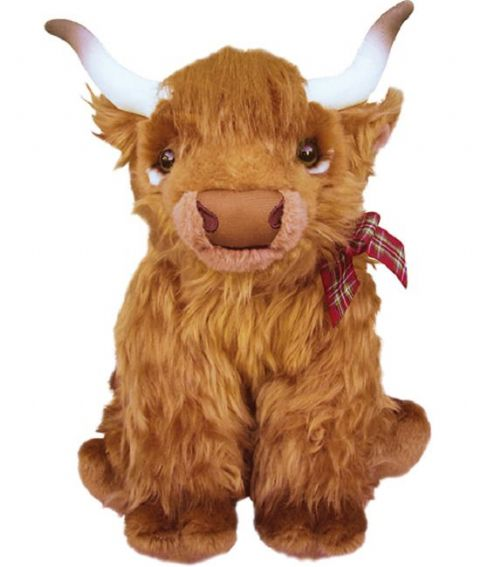 Highland Cow, gift wrapped, not gift wrapped with or not engraved tag